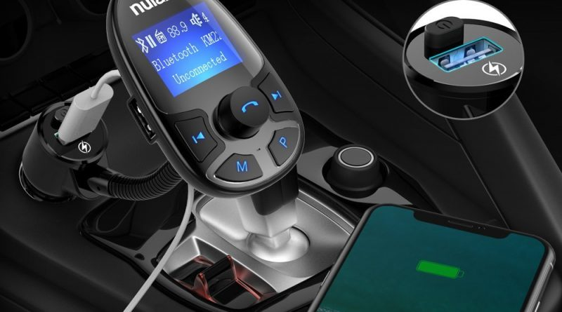 nulaxy wireless in car bluetooth fm transmitter. Black Bedroom Furniture Sets. Home Design Ideas