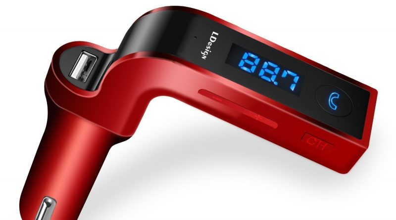 red bluetooth fm transmitter review